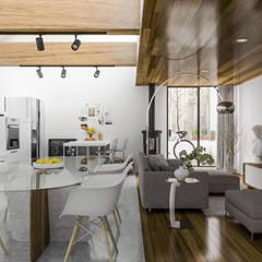 Casa Diana: Comedores de estilo  por MEXIKAN CURIOUS