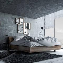 Diseño de Interior: Recámaras.: Recámaras de estilo industrial por Mexikan Curious
