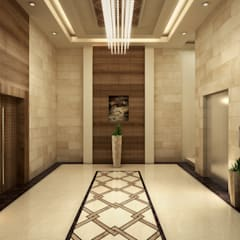 Elevators:  Corridor & hallway by SPACES Architects Planners Engineers