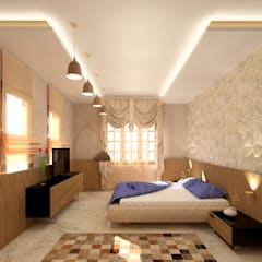 Interior shot:  Bedroom by SPACES Architects Planners Engineers