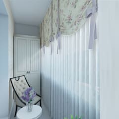 Квартира в стиле Прованс в Москве: Tерраса в . Автор – Студия интерьера 'IDEAL DESIGN'
