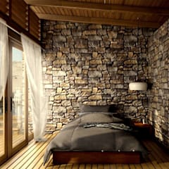 rustic Bedroom by PROMENAD ARQUITECTOS