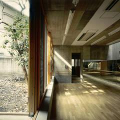 路地が巡る家: 株式会社 ギルド・デザイン一級建築士事務所が手掛けたホームジムです。