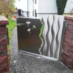 Ginkgotor:  Zen garten von Edelstahl Atelier Crouse - individuelle Gartentore