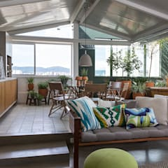 Apartamento Lapa: Terraços  por Estúdio Paulo Alves