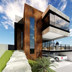 Projekty,  Dom szeregowy zaprojektowane przez Débora Silva Arquitetura e Urbanismo