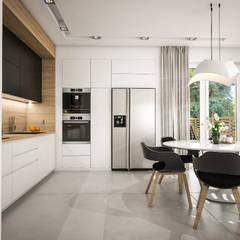 Nowoczesne mieszkanie 70m2: styl , w kategorii Kuchnia zaprojektowany przez Studio Archemia