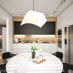Nowoczesne mieszkanie 70m2: styl , w kategorii Kuchnia na wymiar zaprojektowany przez Studio Archemia