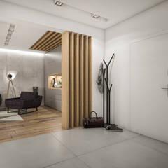 Nowoczesne mieszkanie 70m2: styl , w kategorii Korytarz, przedpokój zaprojektowany przez Studio Archemia