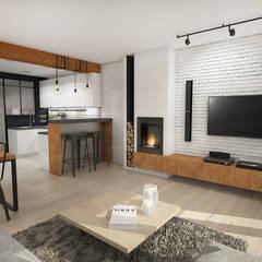 غرفة المعيشة تنفيذ Studio Archemia