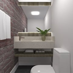 ESPAÇO GOURMET DM: Banheiros  por SPATIO ARQUITETURA E URBANISMO