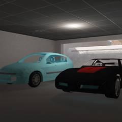 Construcción de garaje en Uceda, Guadalajara : Garajes de estilo  de Fengdeco