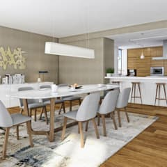 Aguiar 84 | Client: Estoril Real Estate: Salas de jantar  por Onstudio Lda,Moderno