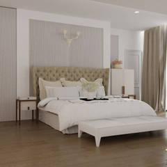 Camera padronale con bagno privato: Camera da letto in stile  di MELLINACORTISTUDIO