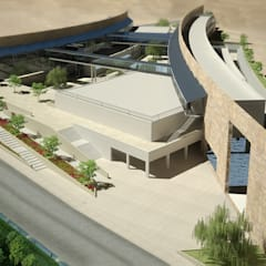 Aerial view:  Conference Centres by SPACES Architects Planners Engineers
