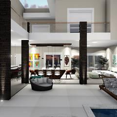 Terrazas de estilo  por Trivisio Consultoria e Projetos em 3D