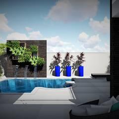 Trivisio Consultoria e Projetos em 3D의  정원 수영장