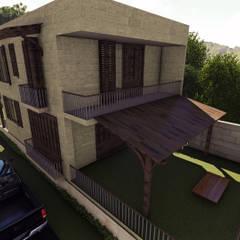 Hakan Özerdem - Mimari Proje Görselleştirme ve 3D Tasarım – İkiz Villa - Balıkesir - 3D Mimari Görselleştirme:  tarz Villa