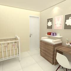 Imagem 02: Quarto infantil  por Dayane Medeiro Arquitetura e Interiores
