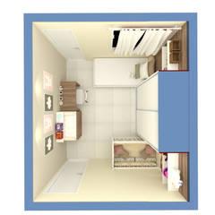 Imagem 05: Quarto infantil  por Dayane Medeiro Arquitetura e Interiores