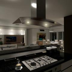 Casa CL -  RESIDENCIA DE FIN DE SEMANA: Cocinas de estilo  por D'ODORICO OFICINA DE ARQUITECTURA