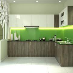 Nhà Ống 3 Tầng 52m2 Thiết Kế Đơn Giản Với Chi Phí 800 Triệu:  Tủ bếp by Công ty TNHH Xây Dựng TM – DV Song Phát,