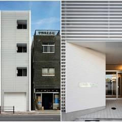 大阪市都島区の共同住宅: 株式会社 藤本高志建築設計事務所が手掛けた二世帯住宅です。