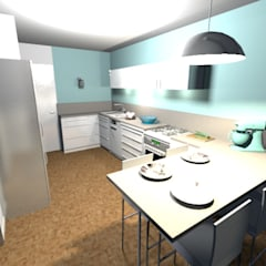 Proposition du projet en 3D: Éléments de cuisine de style  par Scènes d'Intérieur