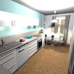 Projet en 3D: Éléments de cuisine de style  par Scènes d'Intérieur