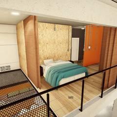 :  Bedroom by GhiorziTavares Arquitetura