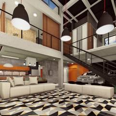 :  Living room by GhiorziTavares Arquitetura