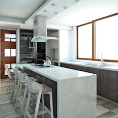 Kitchen units by NEF Arq., Mediterranean