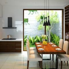 Thiết kế cửa sau thông thoáng:  Bếp xây sẵn by Công ty TNHH Thiết Kế Xây Dựng Song Phát