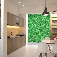 Nhà Phố 4 Tầng Mặt Tiền 4m Thiết Kế Hiện Đại Ở Tân Bình:  Tủ bếp by Công ty TNHH Xây Dựng TM – DV Song Phát,