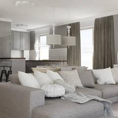 DOM W STYLU KLASYCZNYM – 170 m2: styl , w kategorii Salon zaprojektowany przez VIVINO