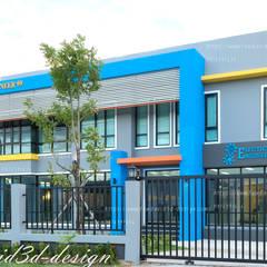 โฮมออฟฟิศ อ.บ้านค่าย จ.ระยอง บ.อิเลคทริค เอ็นจิเนียริ่ง99:  บ้านประหยัดพลังงาน by fewdavid3d-design