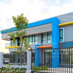 โฮมออฟฟิศ อ.บ้านค่าย จ.ระยอง บ.อิเลคทริค เอ็นจิเนียริ่ง99:  บ้านเดี่ยว by fewdavid3d-design