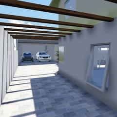 Espaço de circulação de veículos: Piscinas minimalistas por Janete Krueger Arquitetura e Design