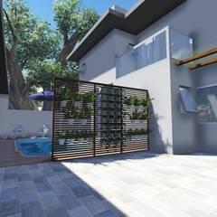 Espaço da piscina: Piscinas de jardim  por Janete Krueger Arquitetura e Design
