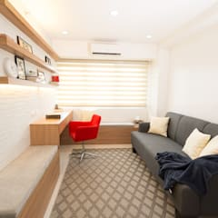 Sonata Private Residences: modern Living room by TG Designing Corner