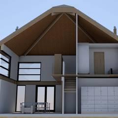 Impressie doorsnede hooibergwoning:  Houten huis door JWG Architecten