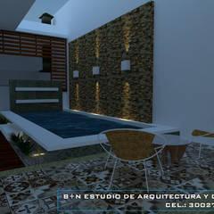 CASA FCAV: Terrazas de estilo  por B+N Estudio de Arquitectura y Diseño