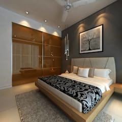 Borivali Residence: asian Bedroom by Midas Dezign