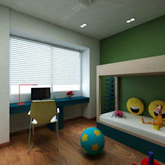 Borivali Residence:  Nursery/kid's room by Midas Dezign