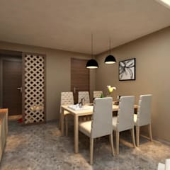 Borivali Residence:  Dining room by Midas Dezign