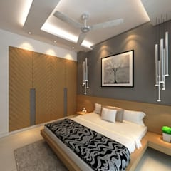 Borivali Residence:  Bedroom by Midas Dezign