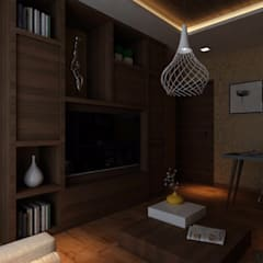 Ashish Rai Residence:  Media room by Midas Dezign