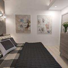 camera matrimoniale: Camera da letto in stile  di studiosagitair