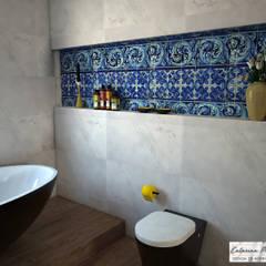 حمام تنفيذ Catarina Piteira Pires - Design de interiores e de produto