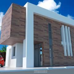 Pared: Villas de estilo  de Estudio de Arquitectura e Interiorismo  José Sánchez Vélez. 653773806